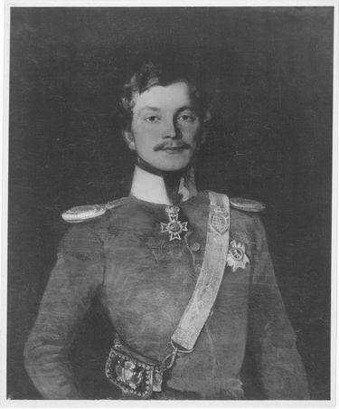 Bildnis eines Herrn von Fabrice in der Uniform der sächsischen Gardereiter