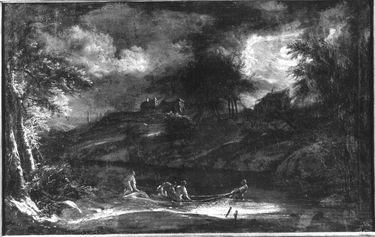Fischer in Mondnacht