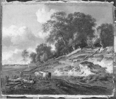 Landschaft mit Vieh und ländlichem Paar