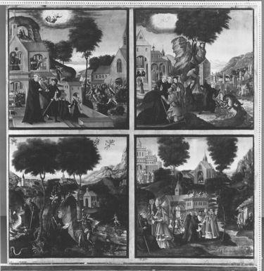 Magnuslegende: Vier Darstellungen aus der Legende des hl. Magnus (Tafel 3)