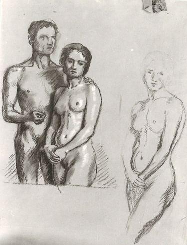 Liebespaar (Studien)
