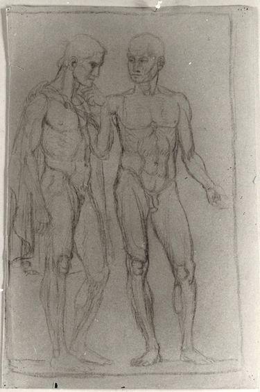 Zwei männliche Akte