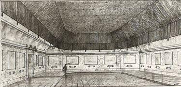 Entwurf zum Umbau des Rottmann-Saales in der Neuen Pinakothek