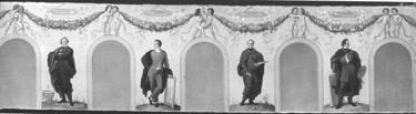 Bildnisse der Künstler Friedrich von Gärtner, Julius Schnorr von Carolsfeld, Heinrich Hess und Carl Rottmann