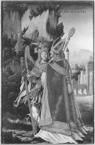 Erzengel Michael und der Bischof von Sipont Rückseite: Teil der Engelschöre