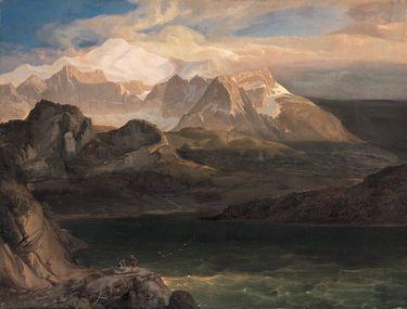 Der Eibsee bei Partenkirchen