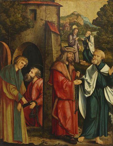 Christgartner Altar: Befreiung Petri und Pauli aus dem mamertinischen Kerker