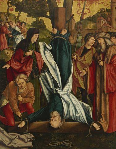 Christgartner Altar: Kreuzigung Petri