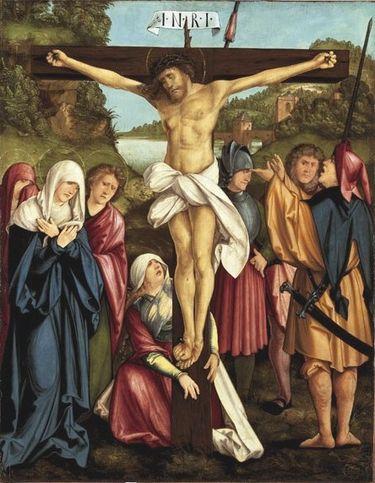 Christgartner Altar: Christus am Kreuz (abgespaltene Rückseite von WAF 926)