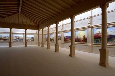 Modell des Rottmann-Saales in der ehemaligen Neuen Pinakothek