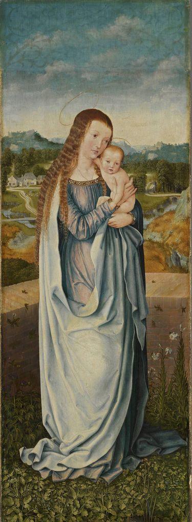 Universitätsaltar: Maria mit dem Kind Rückseite: Hl. Christophorus