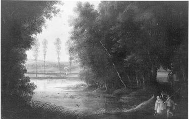 Pilger im Wald