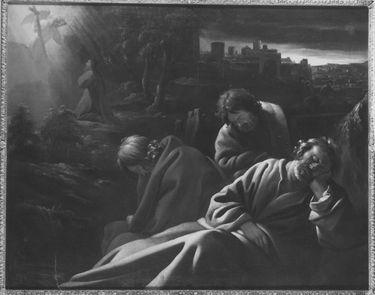 Christus und die Apostel am Ölberg
