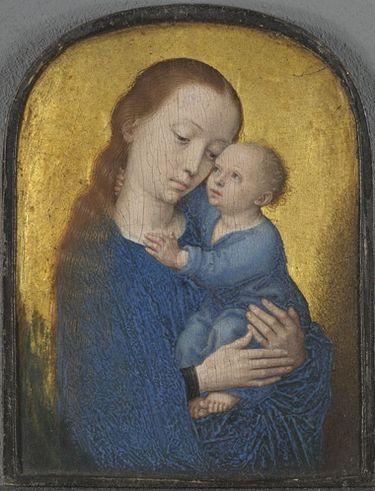 Teil eines Diptychons: Maria mit dem Kind