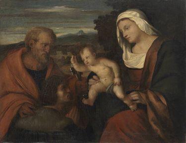 Madonna mit dem heiligen Petrus und einem Stifter (nach Palma Vecchio)