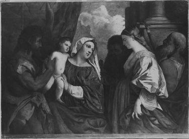 Madonna mit den Heiligen Johannes, Paulus, Magdalena und Hieronymus (nach Tizian)