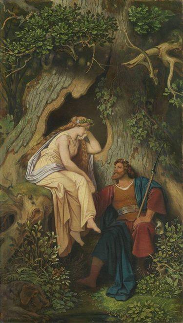König Krokus und die Waldnymphe