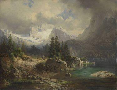 Ansicht des Gosausees mit Dachstein
