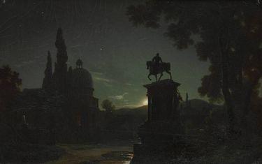 Platz in Venedig bei Mondschein