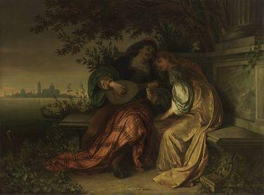 Liebespaar in einem venezianischen Garten