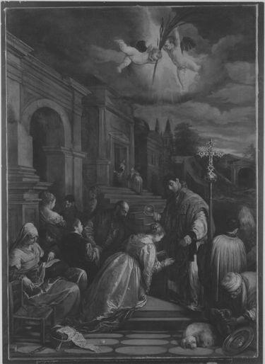 Die Taufe der hl. Lucilla (nach Giacomo Bassano)
