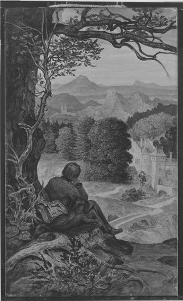 Auf der Wanderschaft (Kopie nach dem 1931 im Münchner Glaspalast verbrannten Gemälde Moritz von Schwinds)