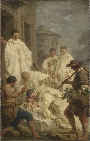 Der hl. Benedikt erweckt ein totes Kind