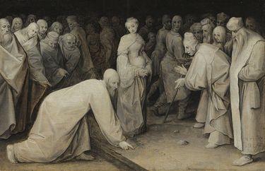 Christus und die Ehebrecherin (nach Pieter Bruegel d. Ä.)