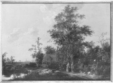 Landschaft mit Staffage