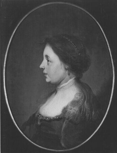 Brustbild einer Frau