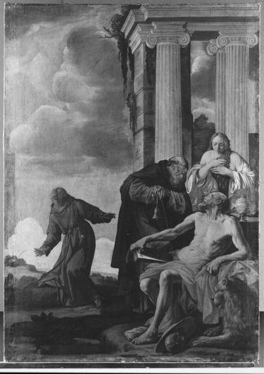 Die hll. Hieronymus, Maria Magdalena, Antonius und Franziskus