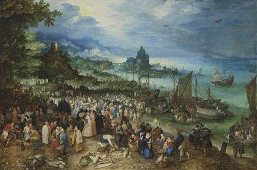 Seehafen mit der Predigt Christi