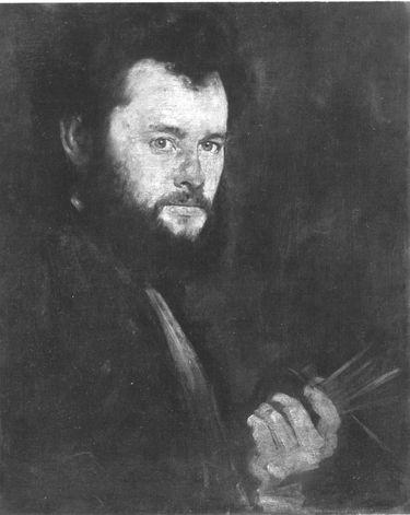Bildnis des Münchner Malers Alfred Zimmermann