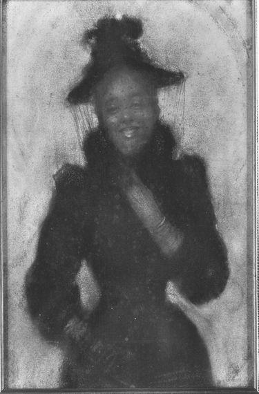 Dame mit Hut und Schleier
