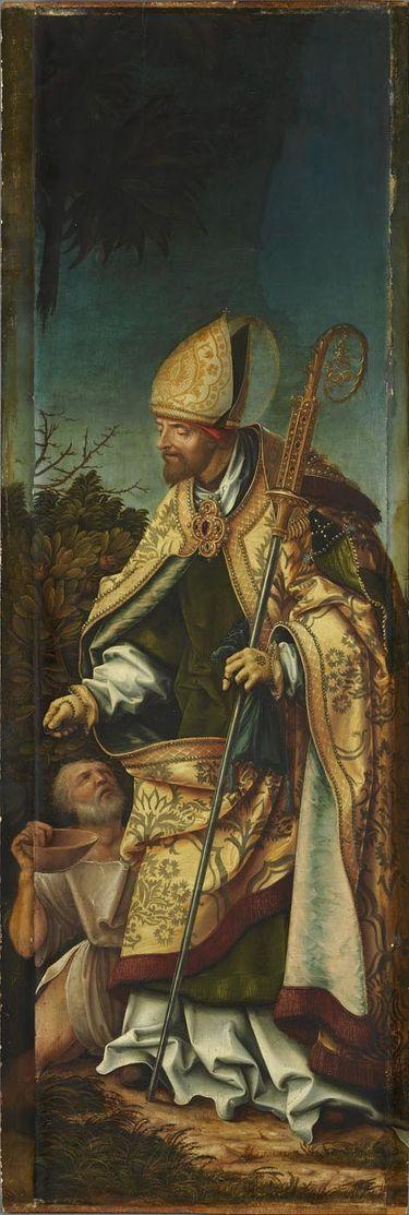 Johannesaltar, rechter Flügel: Hl. Martin