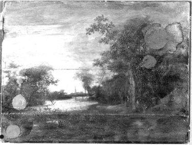 Kanallandschaft bei Sonnenuntergang