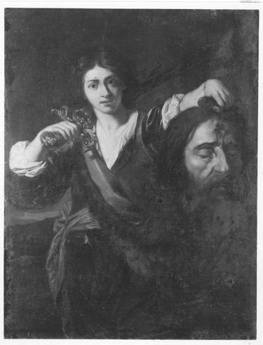David mit dem Haupt des Goliath