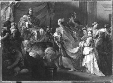 Salomon empfängt die Königin von Saba