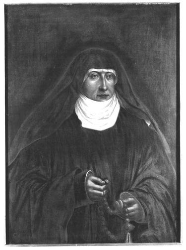 Bildnis der Herzogin Margarethe von Landshut, Äbtissin von Neuburg, Tochter des Herzogs Georg des Reichen von Bayern-Landshut (1480-1531) (Kopie nach