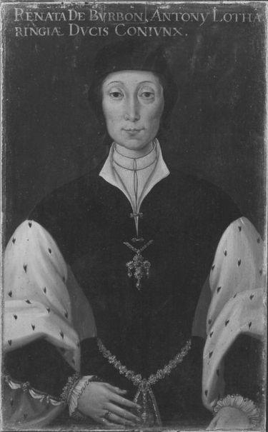 Bildnis der Renée von Bourbon-Montpensier, Gemahlin Antons des Guten von Lothringen