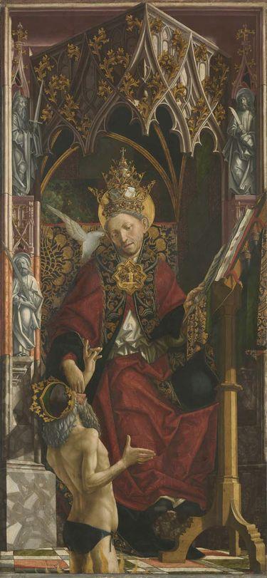 Kirchenväteraltar: Papst Gregor der Große