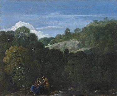 Landschaft mit Versuchung Christi