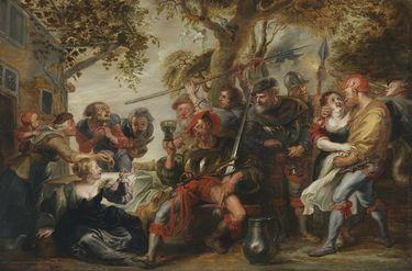 Marodierende Soldaten mit Dirnen (Kopie nach Rubens)