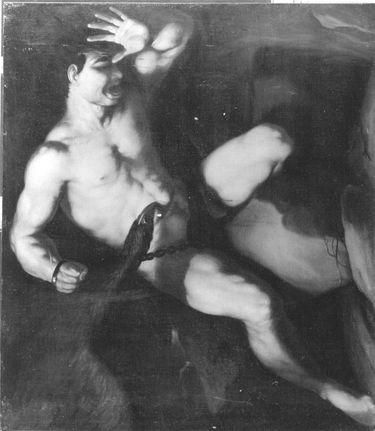 Prometheus an den Felsen geschmiedet