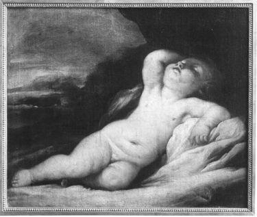 Schlafendes, nacktes Kind