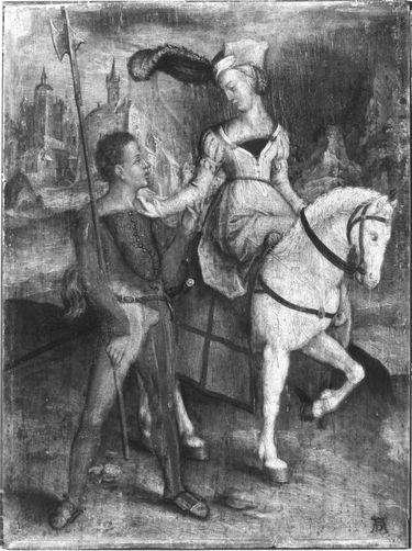 Der Spazierritt (nach Dürers Kupferstich B. 82)