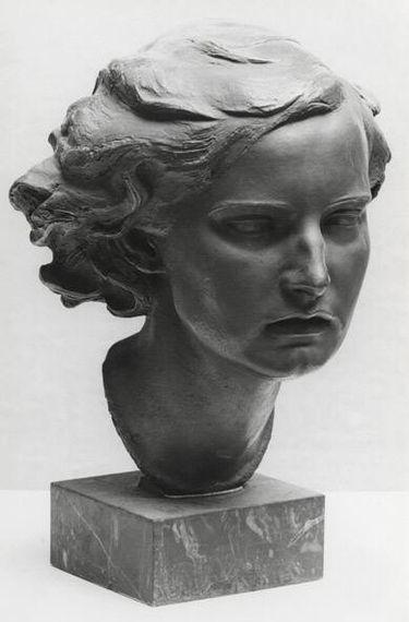 Kopf eines Mädchens