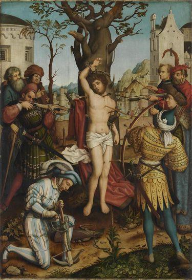 Sebastiansaltar: Martyrium des hl. Sebastian