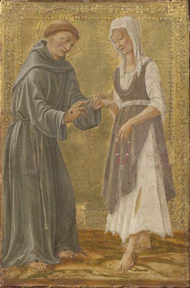 Der hl. Franziskus vermählt sich mit der Armut