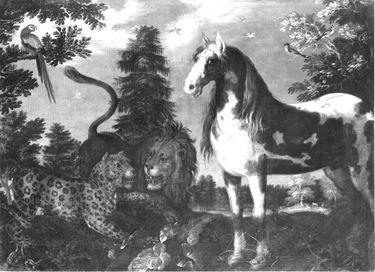 Paradiesische Tiergruppe